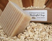 Oatmeal Face Handcrafted Soap with Lavender Honey and Tea Tree- Vegan - 4.5 - 5 oz bar