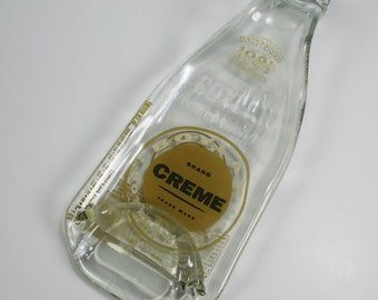 Old Fashioned Boylan Creme Soda Bottle Spoon Rest or Snack Server - Recycled Eco-Friendly