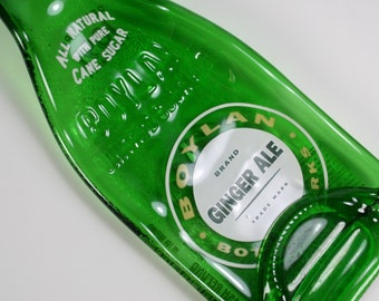 Old Fashioned Boylan Ginger Ale Bottle Spoon Rest or Snack Server - Recycled Eco-Friendly