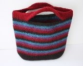 Striped Felted Handbag