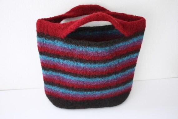 Striped Felted Handbag
