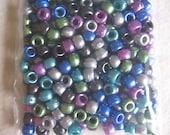 Destash - 300 pcs Cool Pearl Barrel Pony Beads Plastic 9x6mm