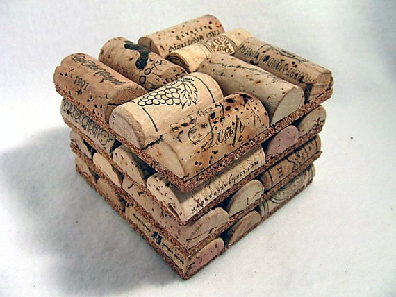 Wine cork coasters set of 4 for Wine cork bar top