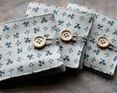 Small Linen Needle Book - blue