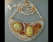 Sunny Path - Artisan Handmade Bead Embroidered Necklace