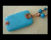 Copper Daisies - Artisan Handmade Bead Woven Necklace