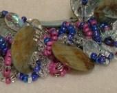 Ocean Spangles - Artisan Handmade Bead Woven Bracelet