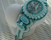 Misty Evening - Artisan Handmade Bead Embroidered Bracelet