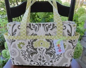 Diaper Bag Tote - 14 Pockets - Clutterbags Hadley Baby Bag - Stroller Straps Included - Secret Garden.