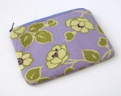 Lavender and Sage floral -  Zippered Pouch