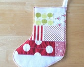 SALE Patchwork Stocking in Christmas Cheer no.3