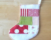 SALE Patchwork Stocking in Christmas Cheer no.4