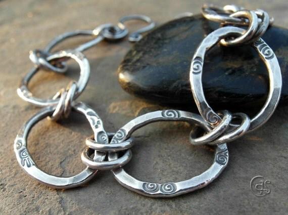 Fine Silver Handmade Chain Bracelet