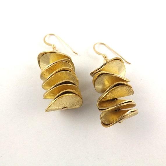 Gold Disc Earrings