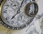 Steampunk Watch Face and Moon Cuff Bracelet