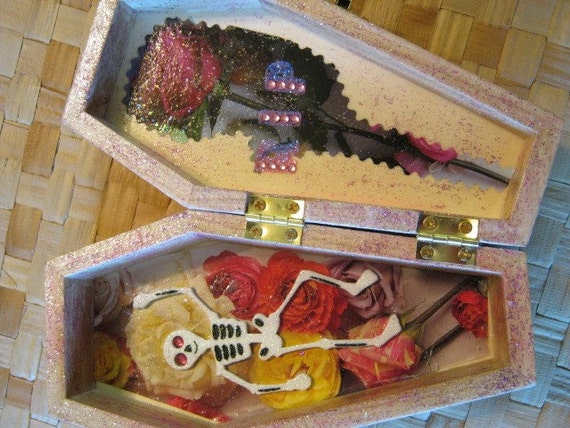 Day of the Dead Coffin Jewelry Box