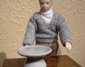 White Cake Stand Miniature, Mature Adult Humor, Grandma and Grandpa Doll, High Cholesterol, Missing Chocolate Cake, Ready to Ship