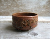 Man Sized Tea Bowl  Leather Brown and Ash 20 oz.