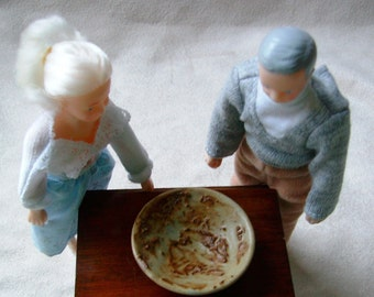 Miniature - Crusty Visceral Guts Bowl, Funny Description, Grandma and Grandpa Doll, Don Reitz Inspired Bowl, Ready to Ship