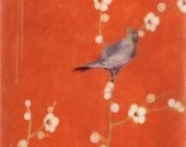 Bird in the Round Blossoms Giclee Print - Free Shipping