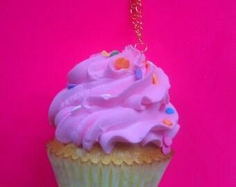 Pink Cupcake Confetti Sugar Smash Necklace