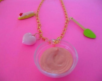 Pink Cake Batter Charm Necklace SALE