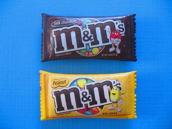M & M Package of Candy Pin