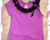 D-JENN DIY Japan Fruits Hot Pink Punk Top M