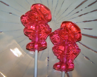 10 Strawberry Girl LolliPops Sucker Party Favor