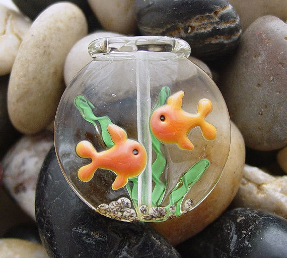 Goldfish Bowl - Large Spree Focal Bead - SRA