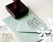 1.5 inch Address Stamp  (Random.  Wood Handle)
