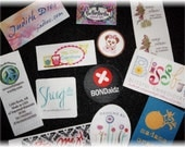 500 Custom Printed Clothing Labels - SEW ON  - Sewing Tags - Digitally Printed - Unlimited Colors - No Fray -  FREE Die Cutting