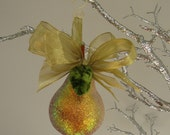 Glittered Golden Pear Ornament