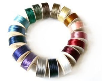 NYMO Beading THREAD 18 bobbins size D for Seed Beads MIX 18
