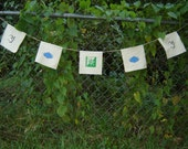 Hemp Prayer Flags with Hunab ku