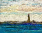 RESERVED - No.658 Lighthouse One - Needlefelt Art XLarge