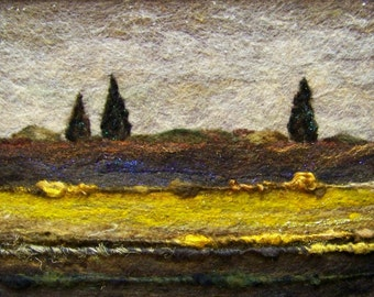 No.482 Golden Field - Needlefelt Art XL