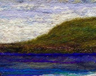 No.494 Shoreline - Needlefelt Art XL