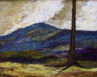No.496 Blue Mountain Too - Needlefelt Art XL