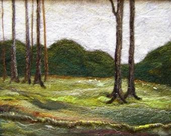 No.534 Field Day - Needlefelt Art XLarge