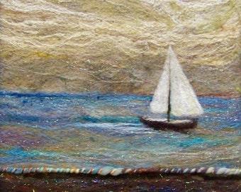 No.545 Sail Too - Needlefelt Art XLarge