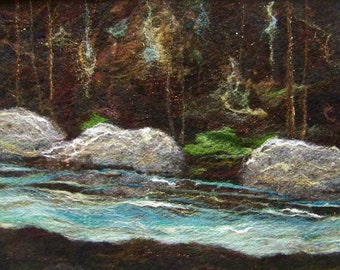 No. 551 River Runs Too - Needlefelt Art XLarge