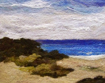 No.586 Beach Too - Needlefelt Art XLarge