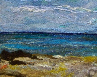 No.597 Ocean View Too - Needlefelt Art XLarge