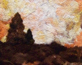 No.610 Sunset Hills - Needlefelt Art XLarge