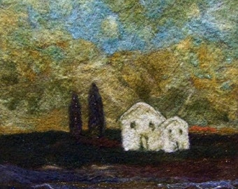 No.614 White House Too - Needlefelt Art XLarge