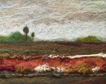 No.200 Warm Field Too - Needlefelt Art