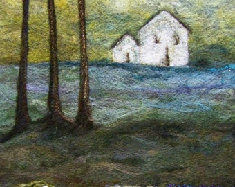 No.667 White House Too - Needlefelt Art XLarge