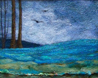 No.674 Blue Hills - Needlefelt Art XLarge