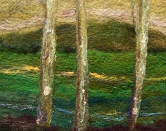 No.238 Three Trees - Needlefelt Art Large